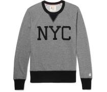 Two-tone Loopback Cotton-jersey Sweatshirt