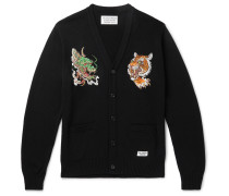 + Tim Lehi Embroidered Cotton-Blend Cardigan