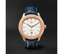 Polo S Automatic 42mm 18-Karat Rose Gold and Alligator Watch, Ref. No. G0A43010