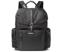Shell And Pelle Tesutta Leather Backpack