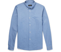 Slim-Fit Button-Down Collar Cotton Oxford Shirt