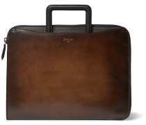 Lift Polished And Full-grain Leather Briefcase