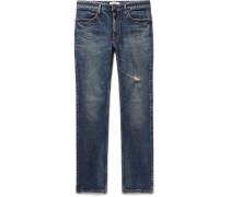 Dweller Slim-fit Distressed Stretch-denim Jeans