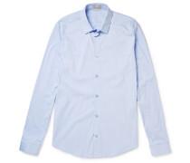 Slim-fit Cotton-blend Poplin Shirt