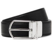 3cm Reversible Smooth and Full-Grain Leather Belt