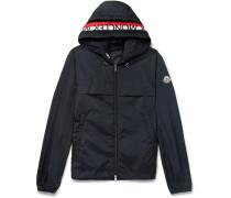Gradignan Stripe-trimmed Shell Hooded Jacket
