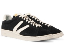 Corda-Folk Leather-Trimmed Suede Sneakers
