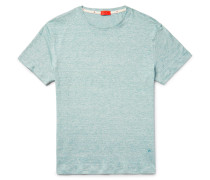 Space-dyed Knitted Linen And Cotton-blend T-shirt