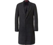 Checked Bouclé Overcoat