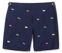 Newport Mid-length Embroidered Swim Shorts