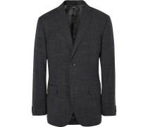 Grey Shigoki Slim-fit Wool Blazer