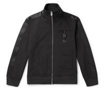 Webbing-Trimmed Buckle-Detailed Neoprene Track Jacket