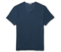 Slub Cotton And Linen-blend Jersey T-shirt