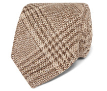 + Drake's 8cm Checked Wool, Silk And Linen-blend Tie