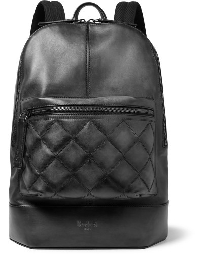 Volume Mm Quilted Leather Backpack - Black