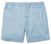 Slim-fit Stretch Cotton-twill Shorts