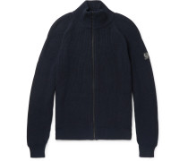 Parkgate Slim-fit Ribbed-cotton Zip-up Cardigan