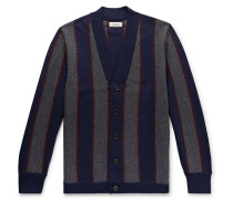 Wallace & Barnes Striped Boiled Merino Wool Cardigan