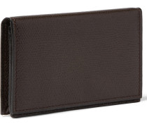 Pebble-grain Leather Business Cardholder