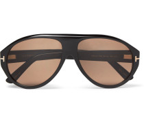 Private Collection Aviator-style Horn Sunglasses