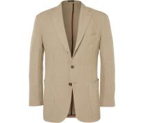Sand Slim-fit Linen Blazer