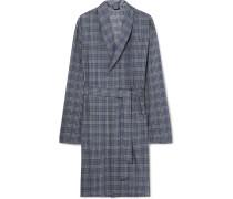 Fynn Checked Cotton-flannel Robe