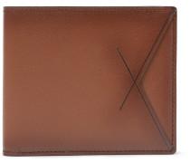 Burnished-leather Billfold Wallet