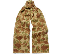 Camouflage-print Wool Scarf