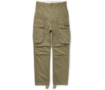 Brushed-cotton Cargo Trousers