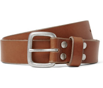 2.5cm Brown Brody Washed-leather Belt