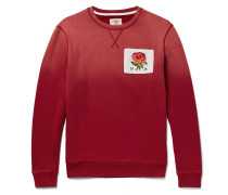 Appliquéd Dégradé Loopback Cotton-jersey Sweatshirt