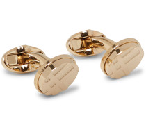 Checked Gold-tone Cufflinks