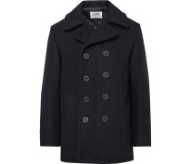 Slim-fit Melton Wool-blend Peacoat