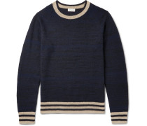 Jacquard-knit Cashmere-blend Sweater