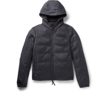 Storm System® Wool And Cashmere-blend Hooded Down Jacket