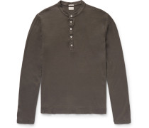 Hawai Cotton And Cashmere-blend Henley T-shirt