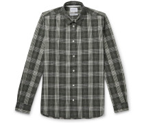 Hans Checked Cotton and Linen-Blend Shirt