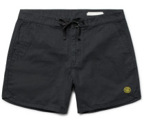 Happy Source Mid-length Organic Cotton And Hemp-blend Swim Shorts
