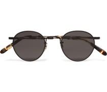 Wilson M 46 Round-Frame Metal and Tortoiseshell Acetate Sunglasses