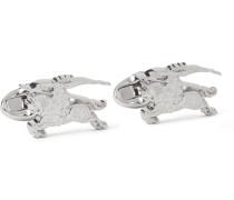 Equestrian Knight Silver-tone Cufflinks