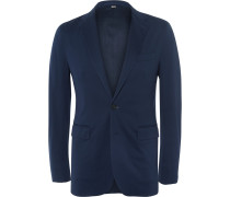 London Slim-fit Cotton-piqué Blazer