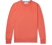 Contrast-tipped Virgin Wool And Cashmere-blend Sweater