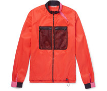 Mesh-panelled Shell Jacket