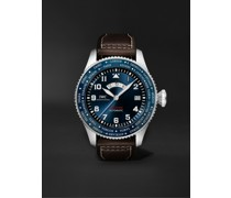 Pilot's Watch Timezoner Le Petit Prince Limited Edition Automatic 46mm Stainless Steel and Leather Watch, Ref. No. IW395503