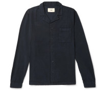 Camp-collar Lyocell And Cotton-blend Twill Shirt