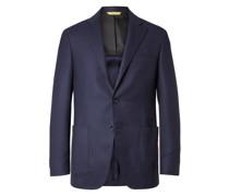 Kei Slim-Fit Unstructured Wool-Jacquard Blazer