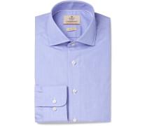 Blue Mayfair Slim-fit End-on-end Cotton Shirt