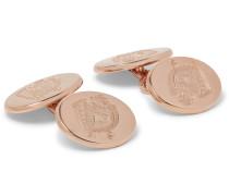+ Deakin & Francis Rose Gold-plated Sterling Silver Cufflinks