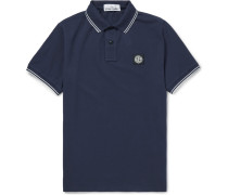 Contrast-tipped Stretch-cotton Piqué Polo Shirt