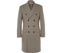Double-breasted Wool Overcoat